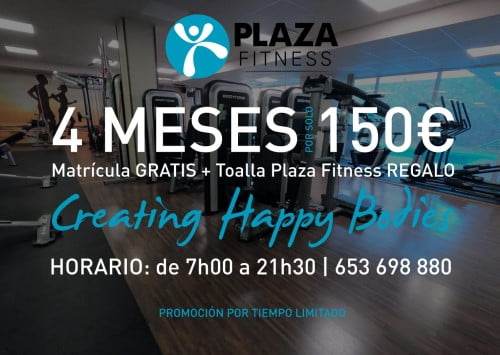 Oferta Especial Plaza Fitness Calpe